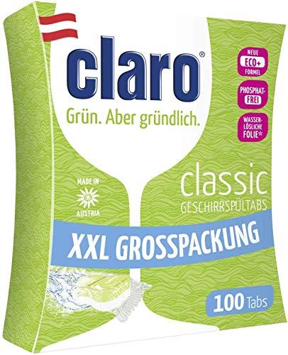 Claro Classic Geschirrspüler-Tabs - Phosphatfrei/Biologisch abbaubar - 40 Stück