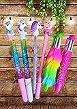 GoMerryKids Unicorn Collection 6 Piece Beautiful Glitter Light Gel Pen Set for Kids