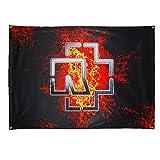 Rammstein Fahne Flagge schwarz Lava Logo, Offizielles Band Merchandise