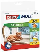 Tesa 05393-00110-00ドアおよび窓用ラバーシール、プロファイルD、ホワイト