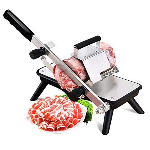 Cortadora de Carne Congelada Manual Industrial Rebanadora de Carne Acero Inoxidable para Cortar Cordero/Ternera/Verduras con Grosor de Corte