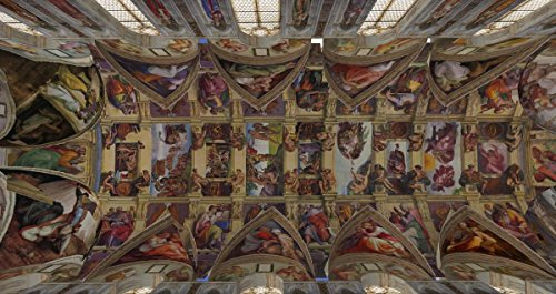 Gifts Delight Laminated 26x14 Poster: Michelangelo Buonarroti - The Sistine Chapel in Second Life Around The Grid