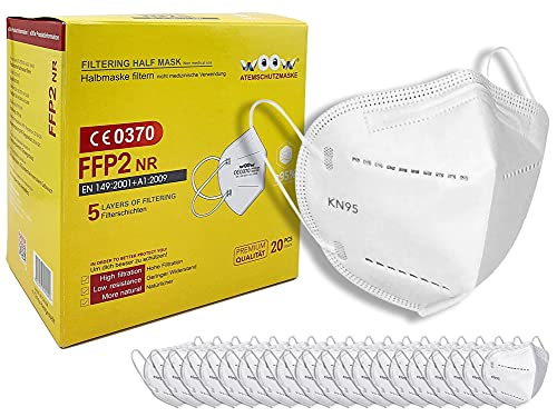 FFP2 Face Mask, Disposable FFP2 / KN95 Mask, 5-Layer Filtering FFP2 Mask...