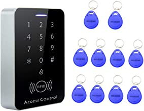 KESOTO RFID Access Control Device 10x Keyfobs Touch Panel Access Controller DC12V
