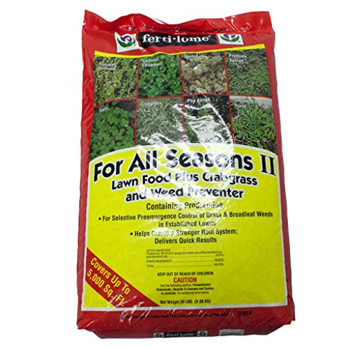 VPG Fertilome For All Seasons Universal Granular Lawn Fertilizer Food for Crabgass & Weed Prevention, 20 Pounds