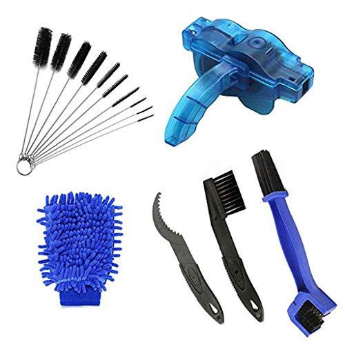 YOUSIKE Multi-Tools Bike Chain Cleaning Brush Kit Bicycle Maintenance Washing Tool