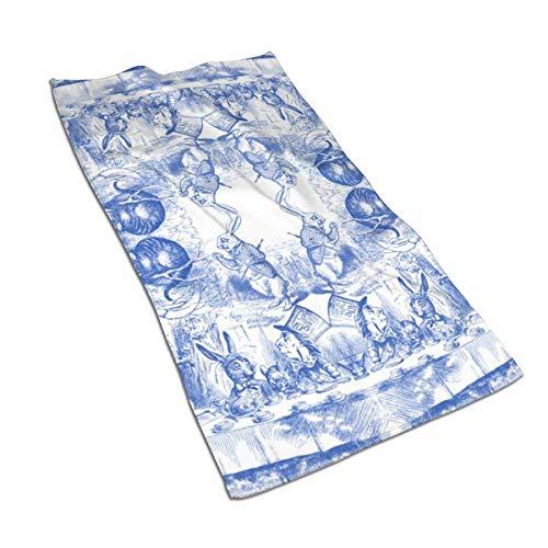 Alice in Wonderland - Toallas de mano decorativas de gran absorción para baño, hotel, gimnasio y spa (16 x 30 pulgadas)