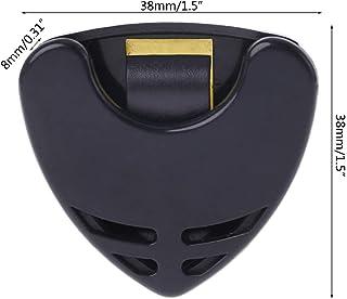 Gjyia 1 pc Guitar Pick Holder Plastic Plectrum Case Mediator Almacenamiento rápido Forma de triángulo Autoadhesivo