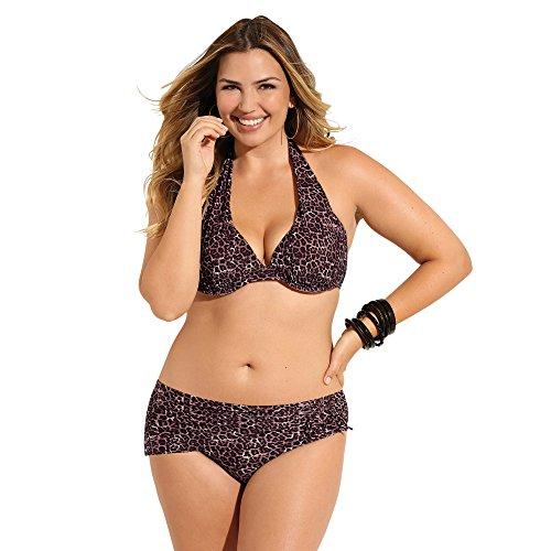 VENCA Bikini Estampado Sujetador de Copas con Aros y Relleno Mujer by 015006,Estampado MARRÓN,120B