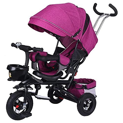 GST Triciclos Triciclo para niños, Titanium Vacío Rueda Plegable y mintiendo, 1-6 años de Edad, Bicicleta para niños, Carro de sombrillas, Triciclo de Montar Deportes, Bicicleta, 8 (Color : 1)