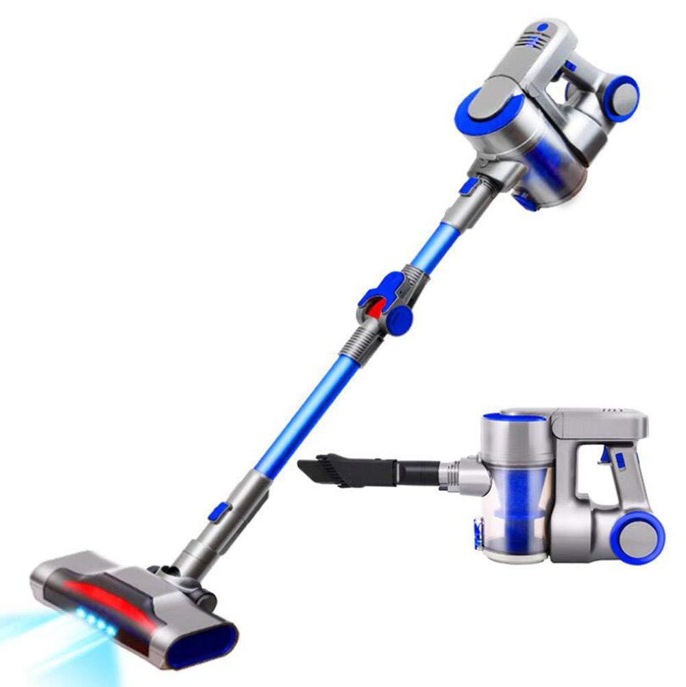 Aspiradora inalámbrica Limpiadora Powerful 9KPa 120W Máquina de 2 en 1 Aspiradora de mano liviana con barra - para alfombras para autos de peluquería para mascotas y para montaje en pared(azul): Amazon.es: