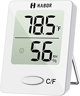 Habor Digital Hygrometer Indoor Thermometer, Humidity Gauge Indicator Room Thermometer,..