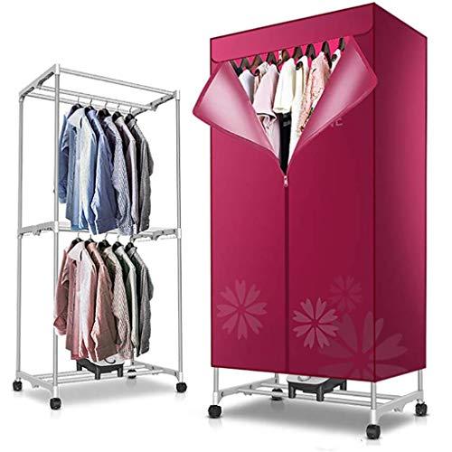 RUIMA Trockner Haushalts Schnell trocknend 1000w tragbare elektrische Wäscheständer 15kg Kapazität Beste Energieeinsparung Sterilisation Folding Wäschetrockner trocknen schnell, 180 Min Digital-automa