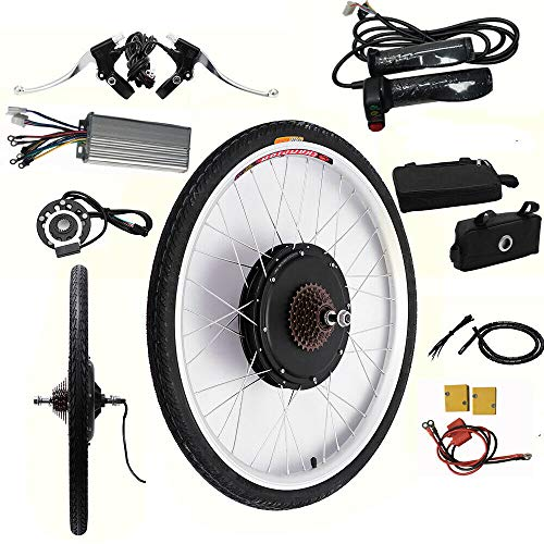 MINUS ONE Kit de conversión para bicicleta eléctrica de 26 pulgadas (rueda...