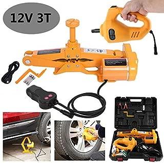 SKIESOAR 12V 3t cric Elettrico con Chiave elettrica per Auto SUV