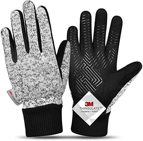 20 Winter Gloves Knitted Gloves 3M Thinsulate Windproof Touch Screen Warm Gloves for Driving product image