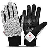 -20℉ Winter Gloves Knitted Gloves,3M Thinsulate Windproof Touch Screen Warm Gloves - for Driving,Cycling,Riding,Running, for Women and Men-S