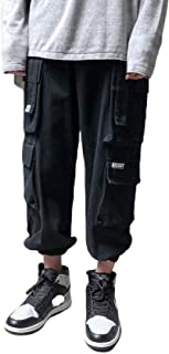 Men`s Loose Cargo Combat Work Multi-Pocket Pants Warm Trousers,Casual Trousers