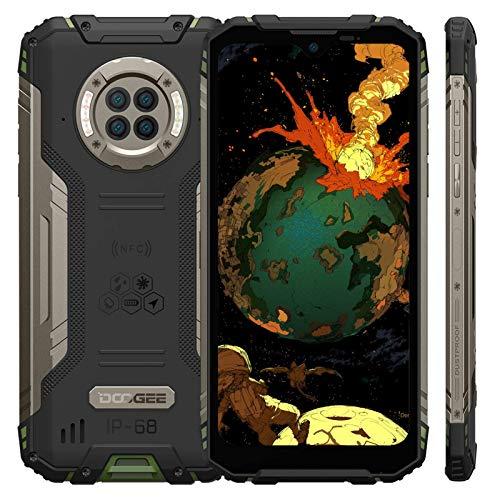 "Rugged Smartphone DOOGEE S96 Pro,IP68 Cellulare Antiurto 4G,8GB RAM,128GB ROM,NFC,Ricarica Senza Fili,Rapida Cablata 24W,Batteria 6350mAh,Fotocamere 48MP,3 Carte,Schermo 6.22"",Android 10 (Verde)"