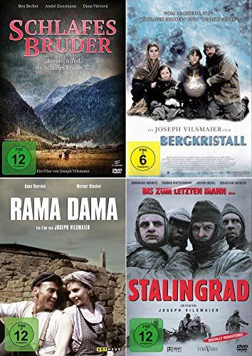 Joseph Vilsmaier 4-Filme Collection | Rama Dama + Bergkristall + Schlafes Bruder + Stalingrad [4er DVD-Set]