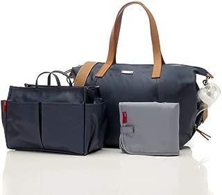 Storksak Noa Coated Canvas Diaper Bag Set - Navy Blue