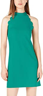 BCX Womens Juniors Sleeveless Halter Scuba Dress
