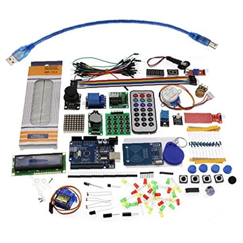 Starter Kit für Arduino Projekte wie Breadboard Halter, LCD 1602, Servo, Sensoren und detaillierte Anleitungen MA05