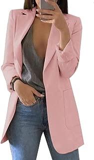 GAGA Women's Basic Casual Button Notched Lapel Neck Suit Blazer Jacket