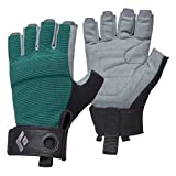 Black Diamond Guanti da Arrampicata Crag Half Finger Gloves Donna, Raging_Sea...
