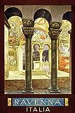 Generisch Ravenna Italia - Placa metálica decorativa (20 x 30 cm)