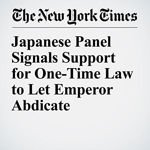 Japanese Panel Signals Support for One-Time Law to Let Emperor Abdicate copertina