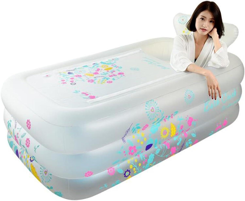 Bathtub ZI LING SHOP- Plastic Inflatable Thickening Adult Folding Bath Barrel Bath Tub