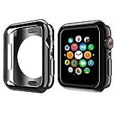 NN.ORANIE コンパチブル Apple Watch Series 5/4 ケース 44mm メッキ TPU ケース 耐衝撃性 超簿 脱着簡単 保護ケース アップルウォッチ カバー Apple Watch 5/4に対応 (ブラック/44mm)