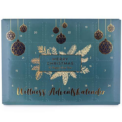 pajoma Beauty Adventskalender Wellness, mit Naturkosmetik, Raumduft, Kosmetiköle, für Frauen, Weihnachtskalender mit 24 Überraschungen (1x 700g)
