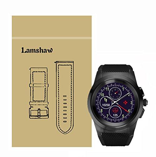 LvBu Armband Kompatibel Für MyKronoz ZeTime, Sport Silikon Classic Ersatz Uhrenarmband Für MyKronoz ZeTime Smartwatch (Schwarz)