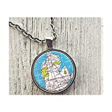 Michigan Karte Halskette, Karte Anhänger, Personalisierte Karte Halskette, Foto Anhänger