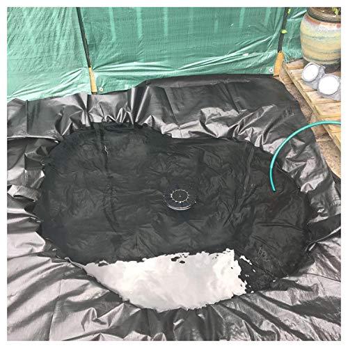 Teichfolie PVC Hochwertige Plane für Teich Schwarz Teich Folie Gartenteichfolie Gartenteich Teichabdeckung für Fischteich Bachbrunnen und Wassergarten, 8x10m Mehrere Grö(Color:20S,Size:8x10M(26x33ft))