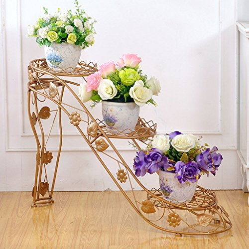 PLL Fer Art Flower Rack Multi-Couche Pot Rack Intérieur et Extérieur Salon Balcon Haut Talon Creative Flower Stand