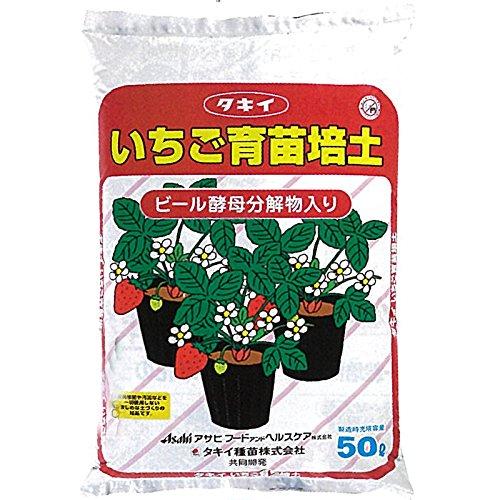 【北海道配送不可】【50L×1袋】タキイの いちご用培土 イチゴ専用 無肥料型 ランナー受け 用土 培土 育苗 にタキイ種苗代不