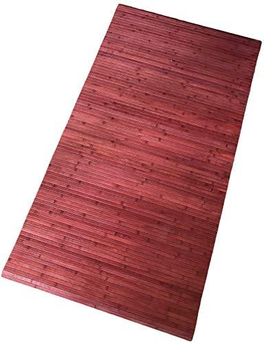 LaVelaHOME Bambus-Teppich, rutschfest, Küchendekoration, rutschfest (140_x_200_cm, Rot)