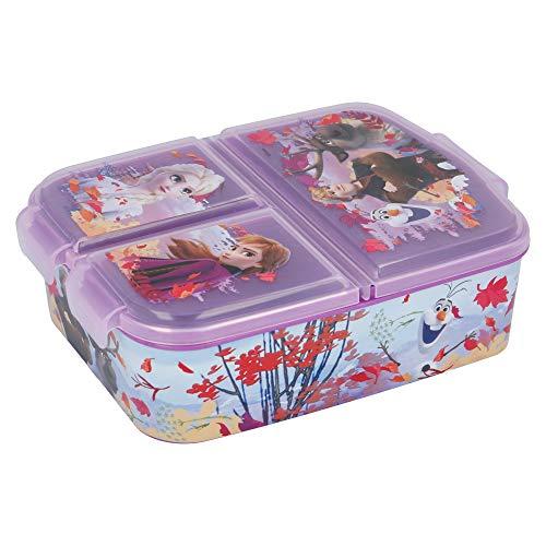Stor La Reine des Neiges 2 (Disney)   Boîte À Déjeuner - Boîte À Repas avec Trois Compartiments pour Enfants