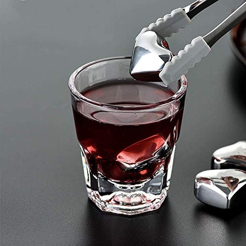 Herbruikbare RVS Ice Cubes RVS Ice Cubes Metal Ice Wine Stone Quick-frozen Steel Whisky Ice Wine Stone Bar Wijn Set Gifts Set Scotch wijn (Kleur: 8 stuks, Maat: Een maat) ZY