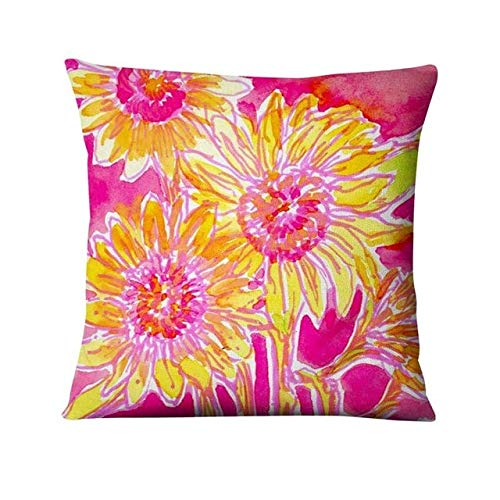 Watercolor abstract art print pillowcase flower plant home pillow decoration sofa pillow - 9,45x45cm