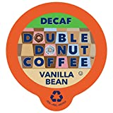 French Vanilla Coffee Medium Roast Decaf Flavored Coffee Pods for Keurig K Cups Makers from Double Donut, 24 Capsules