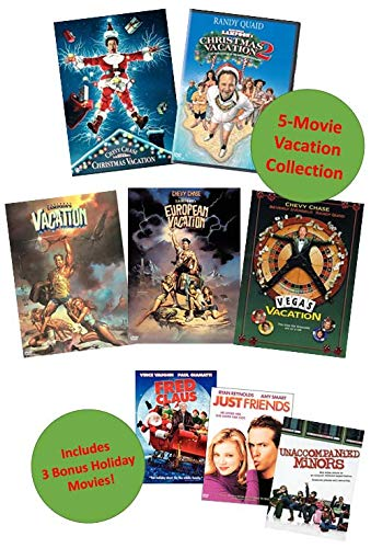 National Lampoon's Vacation Movie DVD Collection: Christmas Vacation 1 & 2 / Vacation / European Vacation / Vegas Vacation + 3 Bonus Holiday Comedies: Fred Claus / Just Friends / Unaccompanied Minors