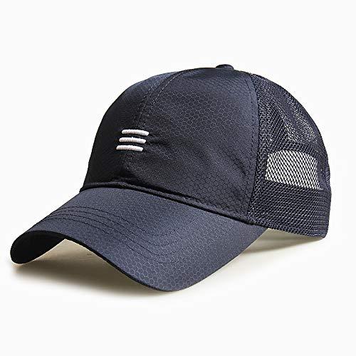 sdssup Sombrero Sombrero Masculino Gorra de béisbol de Gran tamaño Tapa de Barra Horizontal Azul Tibetano XL (60-65cm)