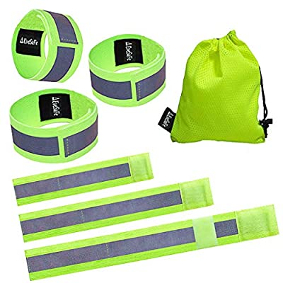 no!no! Reflective Band 6X, High Visibility Reflective Armband/Ankle Band/Leg Band for Running, Bicycling, Walking. Adjustable Reflective Strap for Runners, Cyclists and Walkers