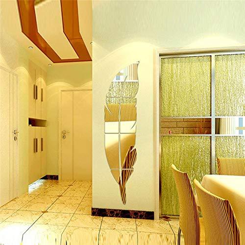 Wandspiegel Aufkleber, 15 72 cm DIY Feder Muster Acryl Spiegel Wand Vinyl Aufkleber Aufkleber Mode 3D Abziehbild Wohnzimmer Wandbilder Für Heimtextilien