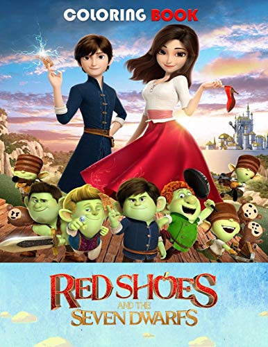 Red shoes and the seven dwarfs coloring book: Fun Gift For Kids Ages 2-8
