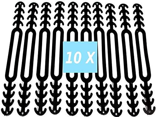 CupGo® Mundschutz Ohrhaken10 Stück Maskenhaken Anti-rutsch Silikon Masken Ohrband Maskenband Verlängerungsriemen für Ohrschutz 4 Einstellbare Haken für Erwachsene und Kinder (Schwarz)